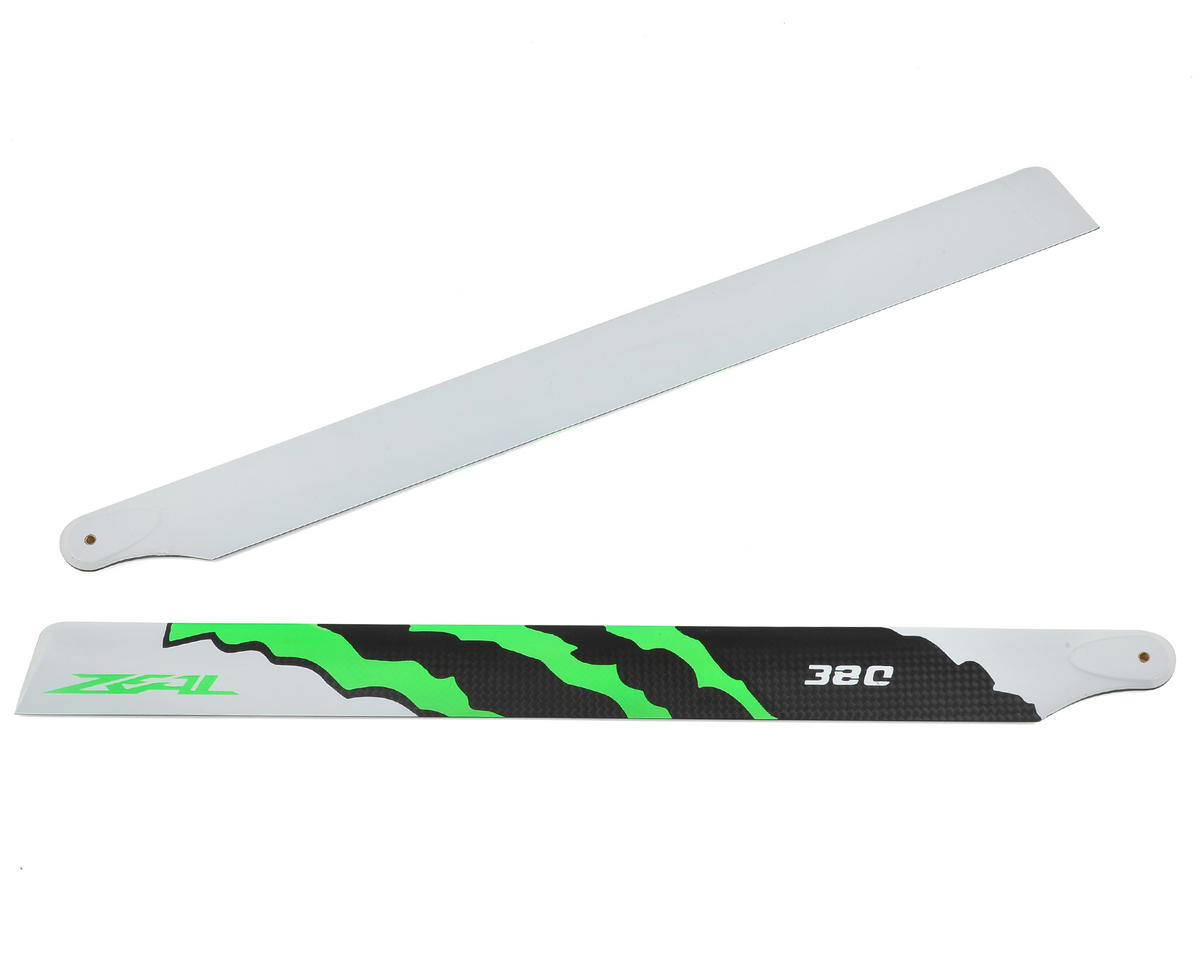 "Zeal 380mm ""Energy"" Carbon Fiber Main Blades (Green)"