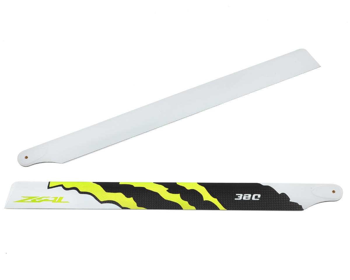 "380mm ""Energy"" Carbon Fiber Main Blades (Yellow) by Zeal"