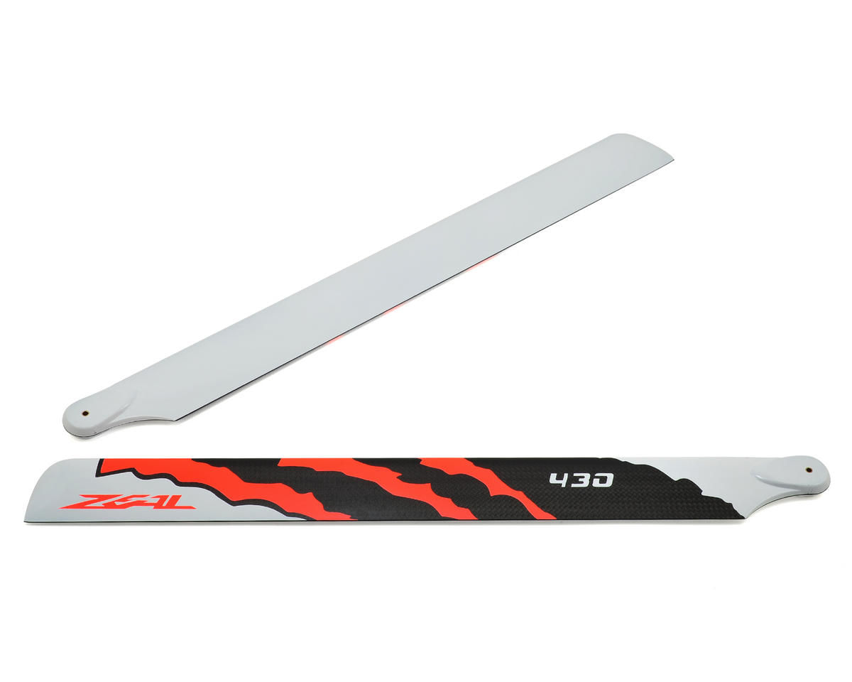 "430mm ""Energy"" Carbon Fiber Main Blade Set (Neon Orange) by Zeal"