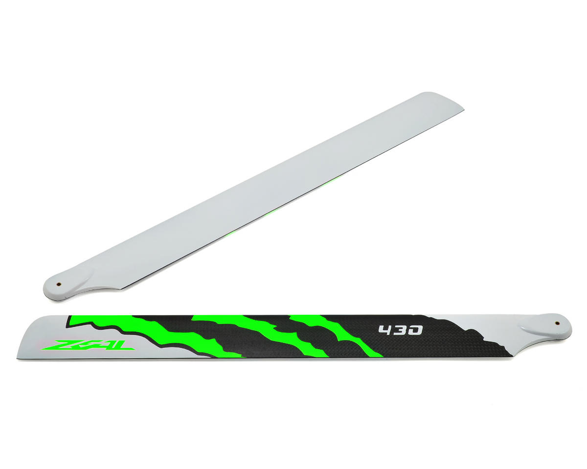 "430mm ""Energy"" Carbon Fiber Main Blades (Green) by Zeal"