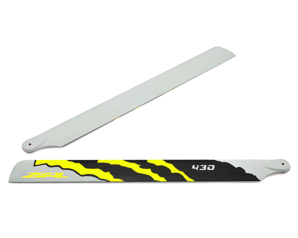 "430mm ""Energy"" Carbon Fiber Main Blades (Yellow) by Zeal"