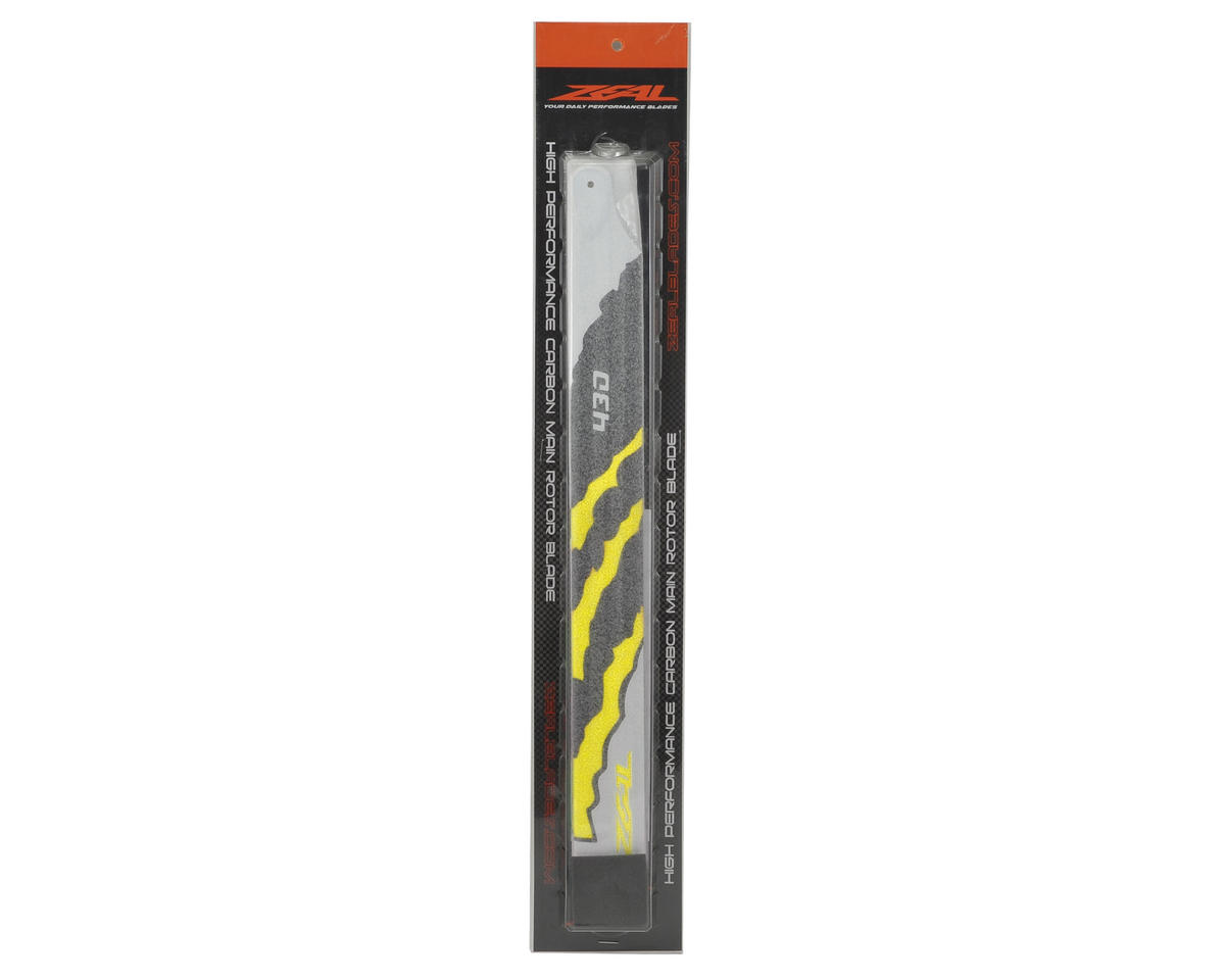 "Zeal 430mm ""Energy"" Carbon Fiber Main Blades (Yellow)"