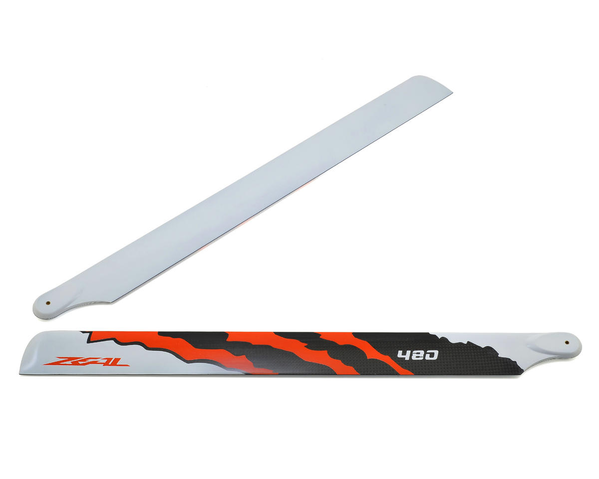 "480mm ""Energy"" Carbon Fiber Main Blades (Neon Orange) by Zeal"