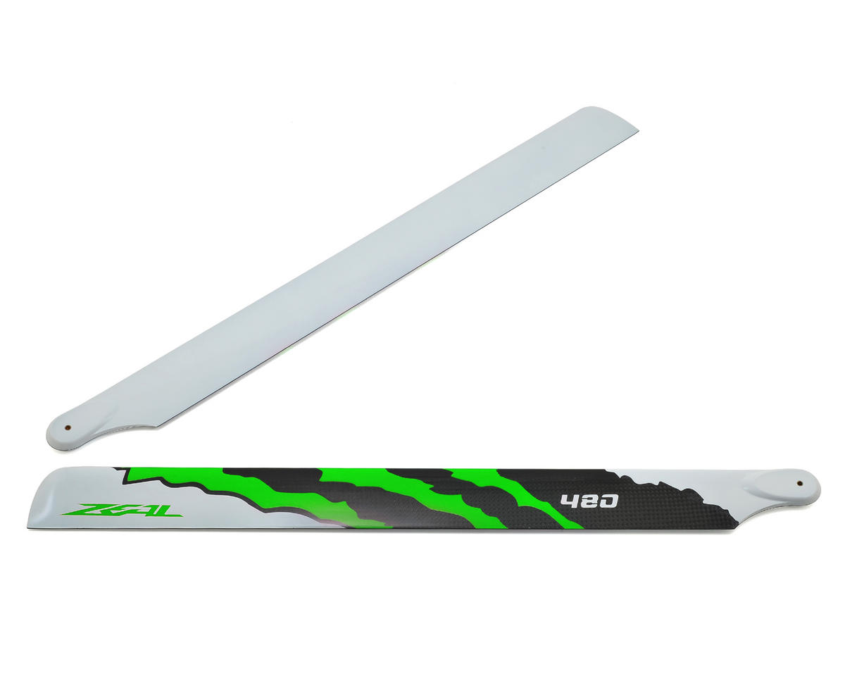 "Zeal 480mm ""Energy"" Carbon Fiber Main Blades (Green)"
