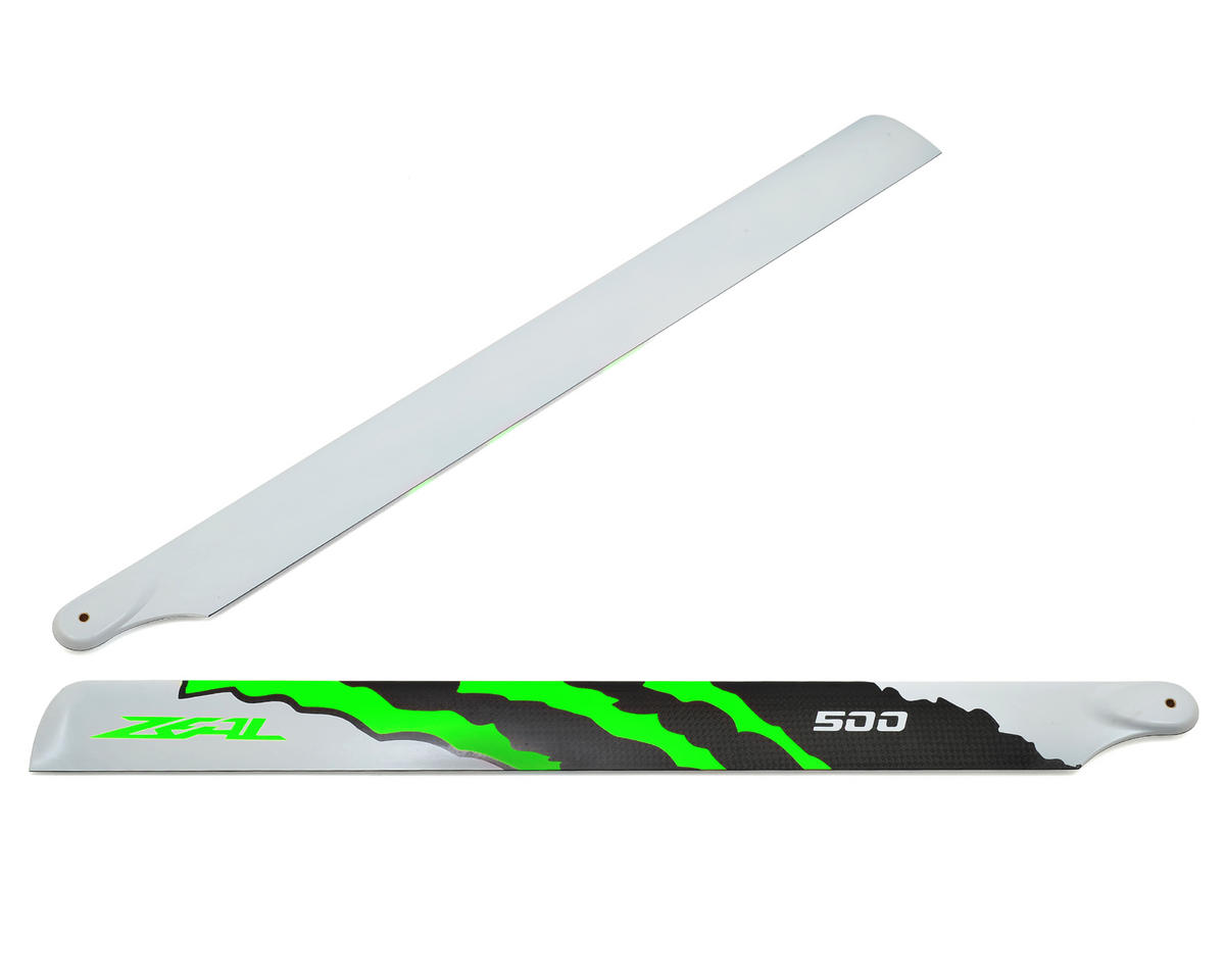 "500mm ""Energy"" Carbon Fiber Main Blades (Green) by Zeal"