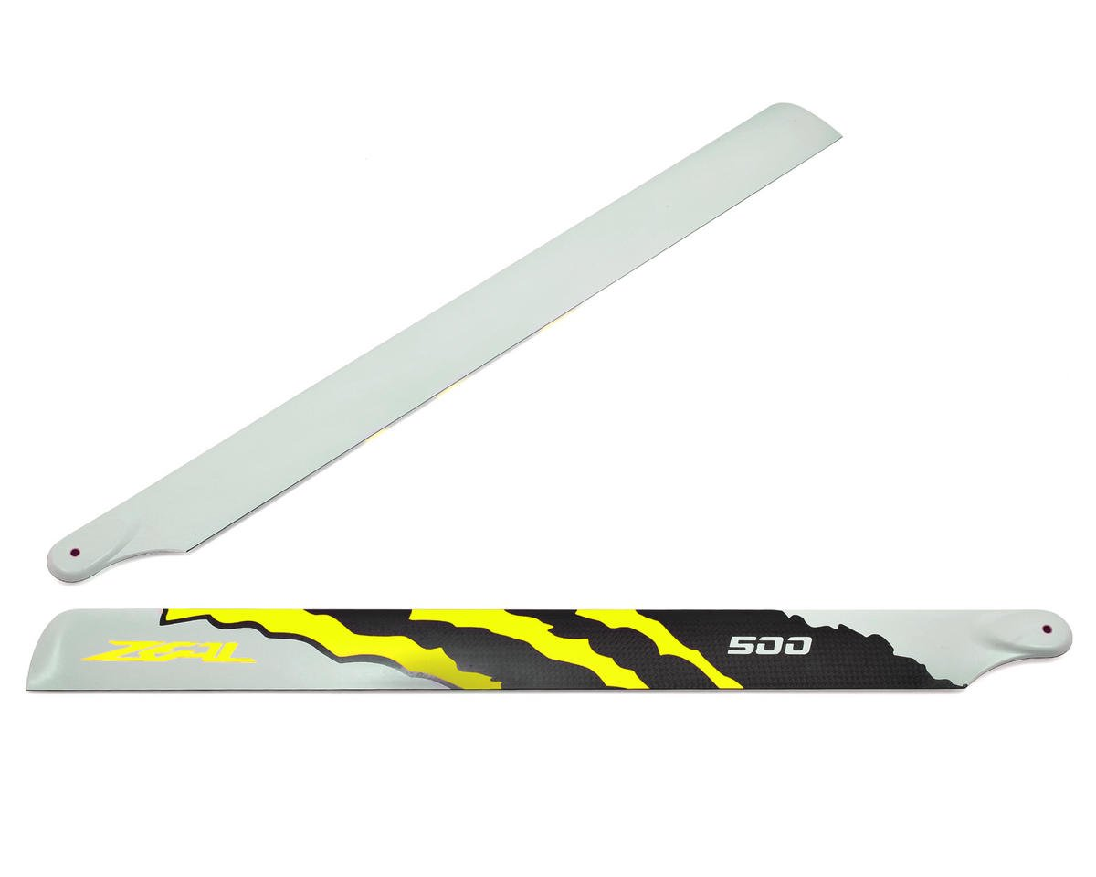 "Zeal 500mm ""Energy"" Carbon Fiber Main Blades (Yellow)"