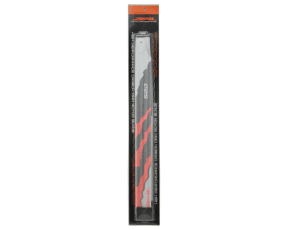 "Zeal 520mm ""Energy"" Carbon Fiber Main Blades (Neon Orange)"