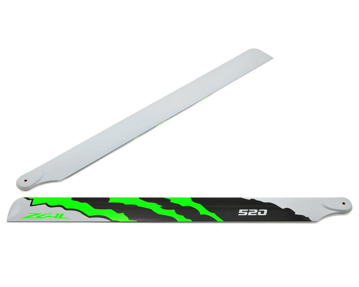 "Zeal 520mm ""Energy"" Carbon Fiber Main Blades (Green)"