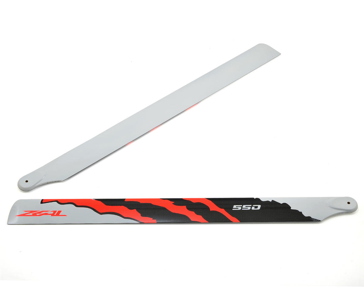 "550mm ""Energy"" Carbon Fiber Main Blades (Neon Orange) by Zeal"