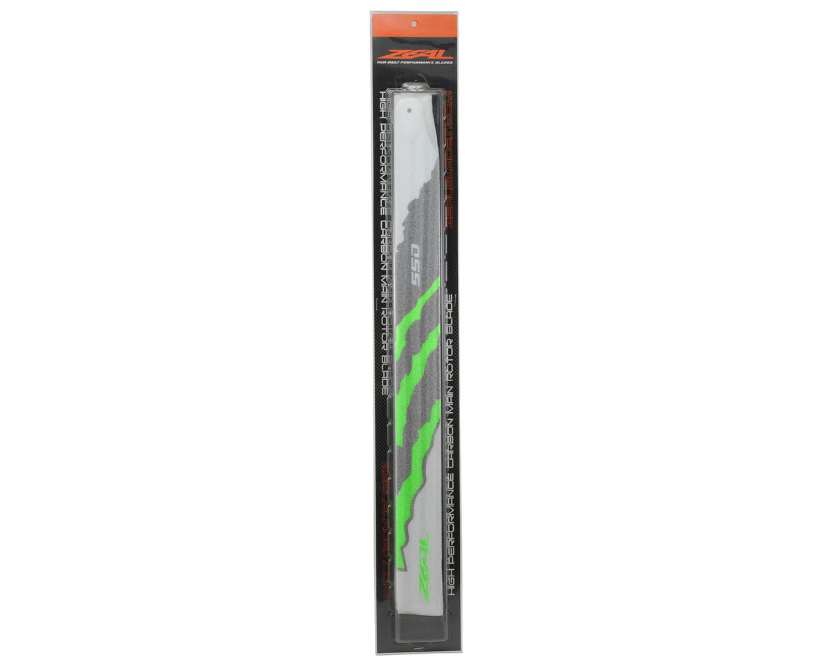 "Zeal 550mm ""Energy"" Carbon Fiber Main Blades (Green)"