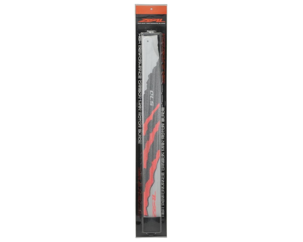 "570mm ""Energy"" Carbon Fiber Main Blades (Neon Orange) by Zeal"