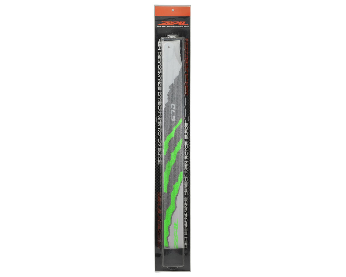 "Zeal 570mm ""Energy"" Carbon Fiber Main Blades (Green)"