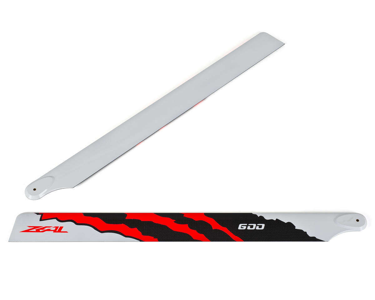 "Zeal 600mm ""Energy"" Carbon Fiber Main Blades (Neon Orange)"