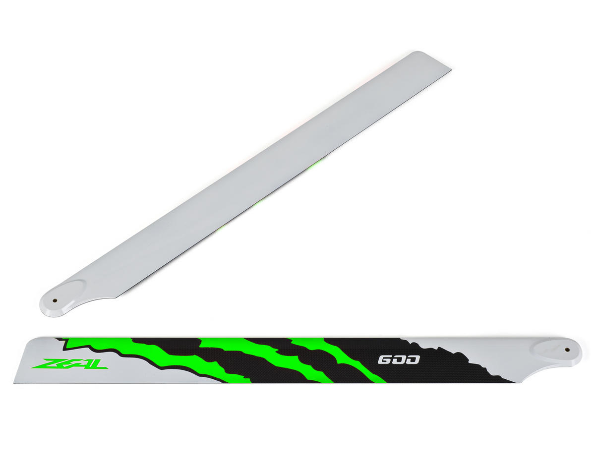 "Zeal 600mm ""Energy"" Carbon Fiber Main Blades (Green)"
