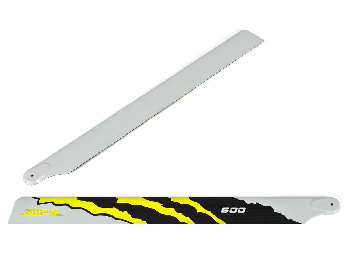 "Zeal 600mm ""Energy"" Carbon Fiber Main Blades (Yellow)"