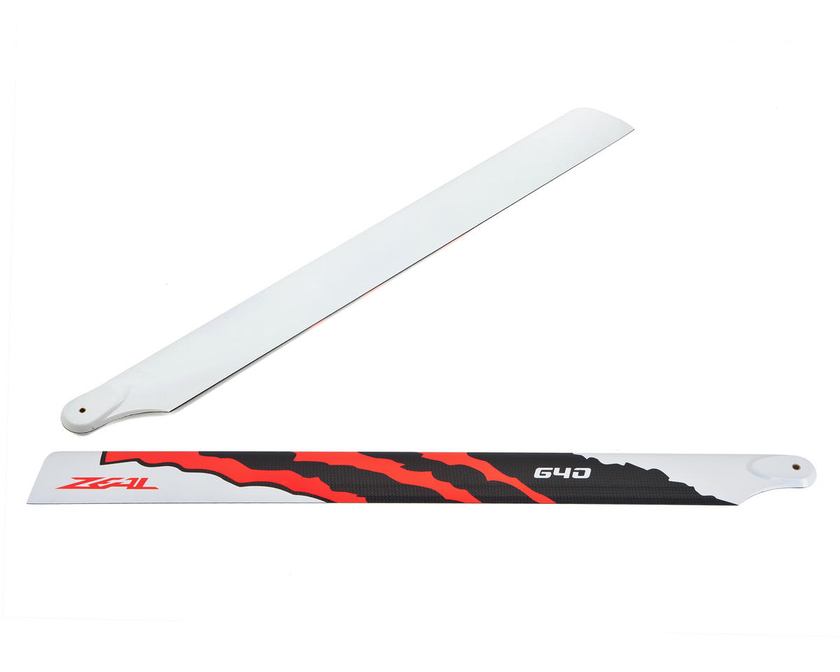 "Zeal 640mm ""Energy"" Carbon Fiber Main Blades (Neon Orange)"