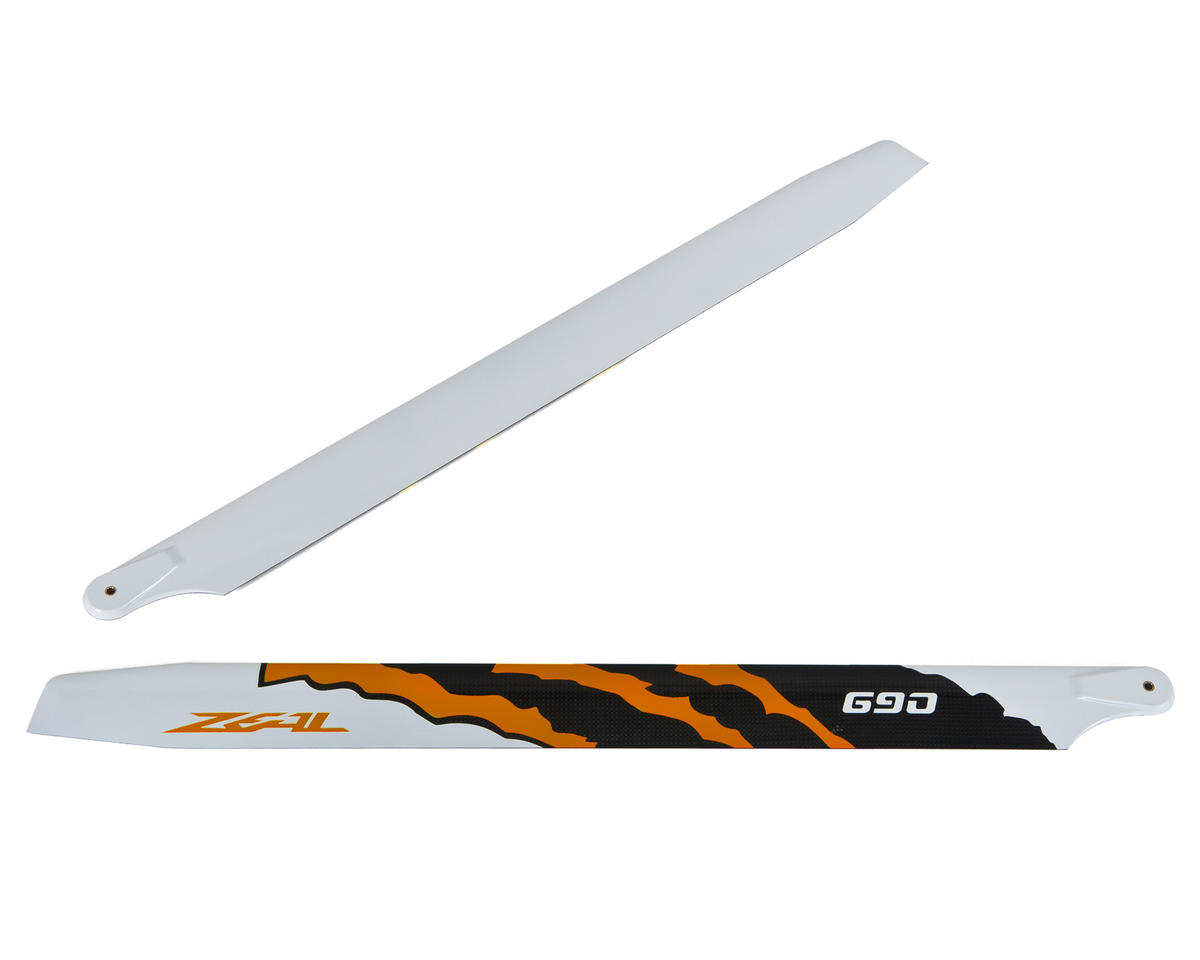 "Zeal 690mm ""Energy"" Carbon Fiber Main Blades (Neon Orange)"