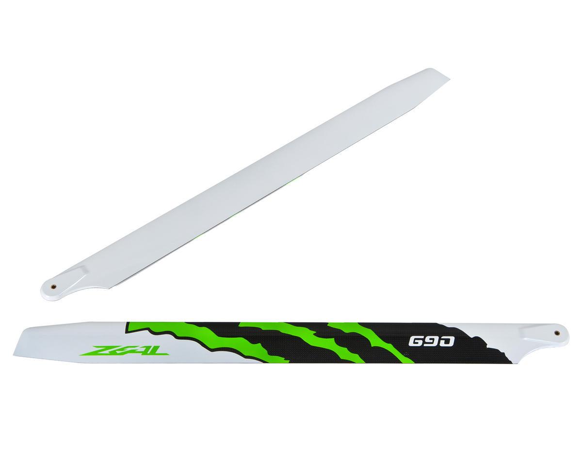 "Zeal 690mm ""Energy"" Carbon Fiber Main Blades (Green)"