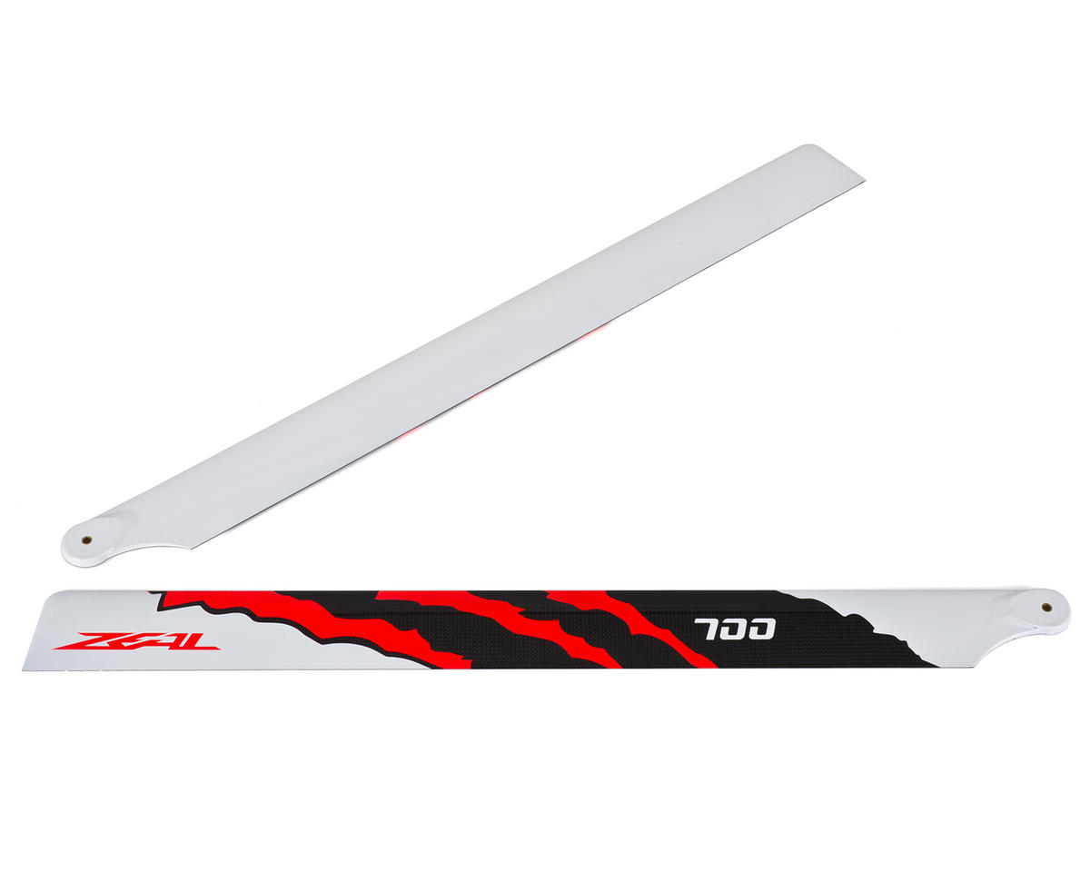 "Zeal 700mm ""Energy"" Carbon Fiber Main Blades (Neon Orange)"