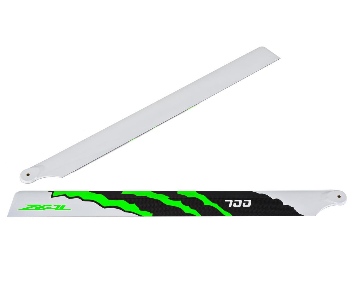 "Zeal 700mm ""Energy"" Carbon Fiber Main Blades (Green)"