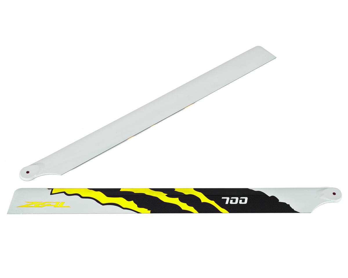 "700mm ""Energy"" Carbon Fiber Main Blades (Yellow) by Zeal"