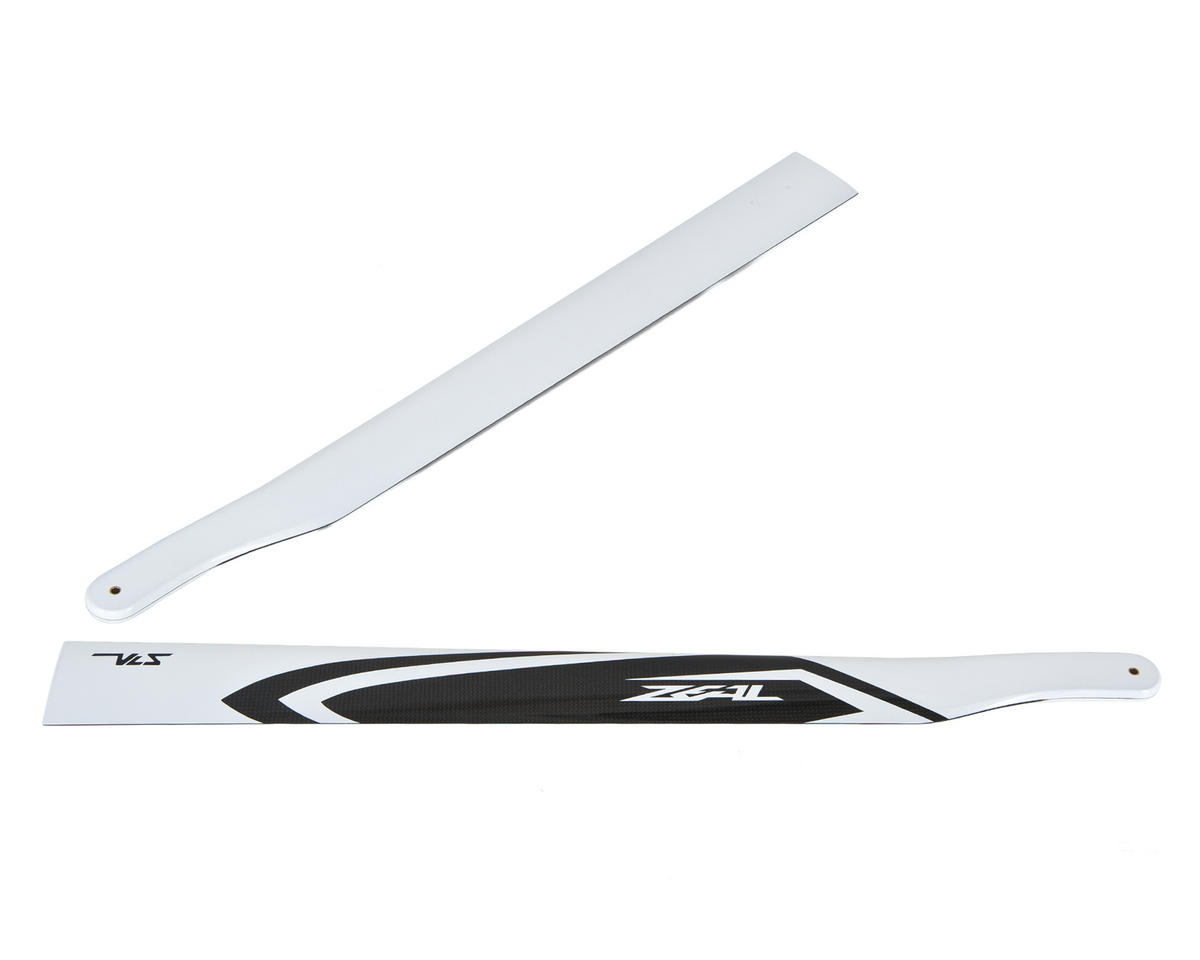 Zeal 700mm VLS Carbon Fiber Main Blades (White)