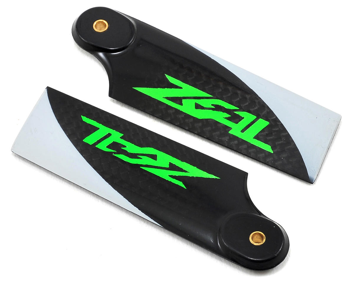Zeal 70mm Carbon Fiber Tail Blades (Green)