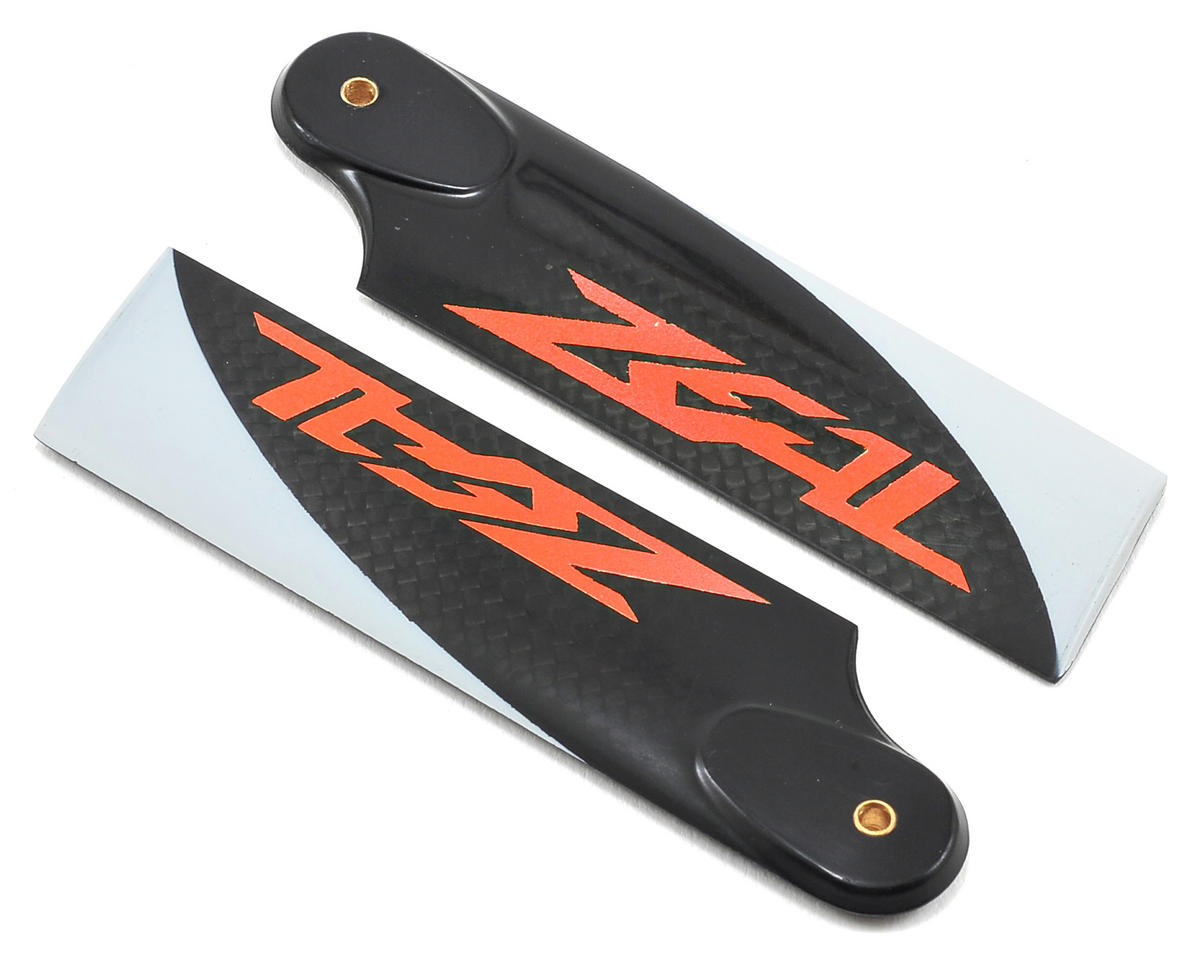 Zeal 80mm Carbon Fiber Tail Blades (Neon Orange)