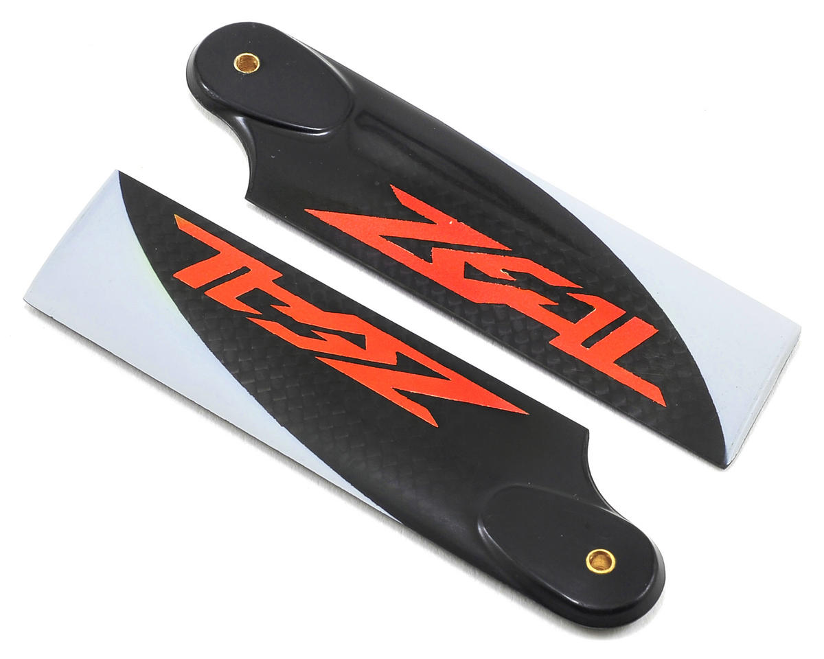 Zeal 85mm Carbon Fiber Tail Blades (Neon Orange)