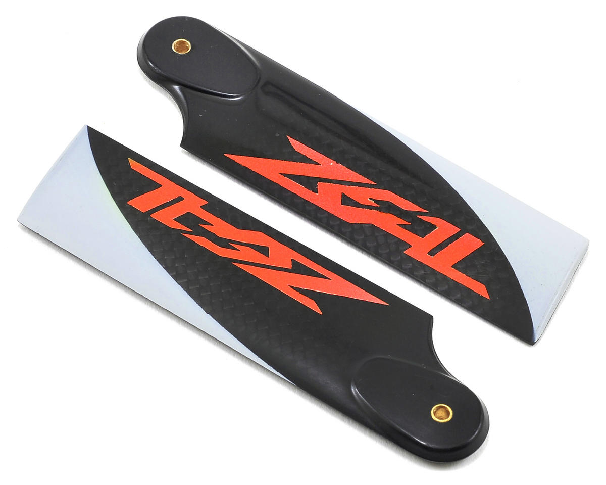 Zeal 95mm Carbon Fiber Tail Blades (Neon Orange)