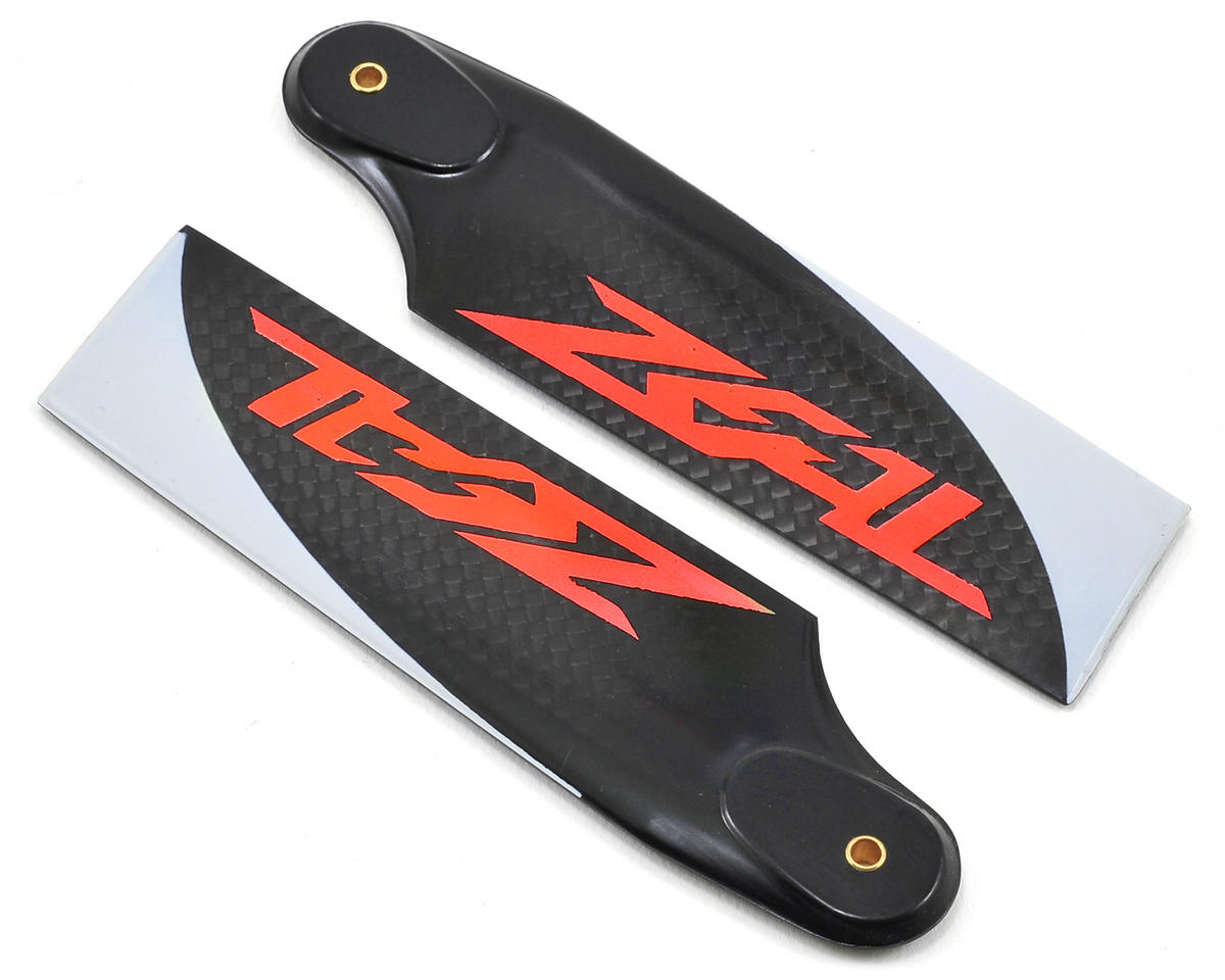 Zeal 105mm Carbon Fiber Tail Blades (Neon Orange)