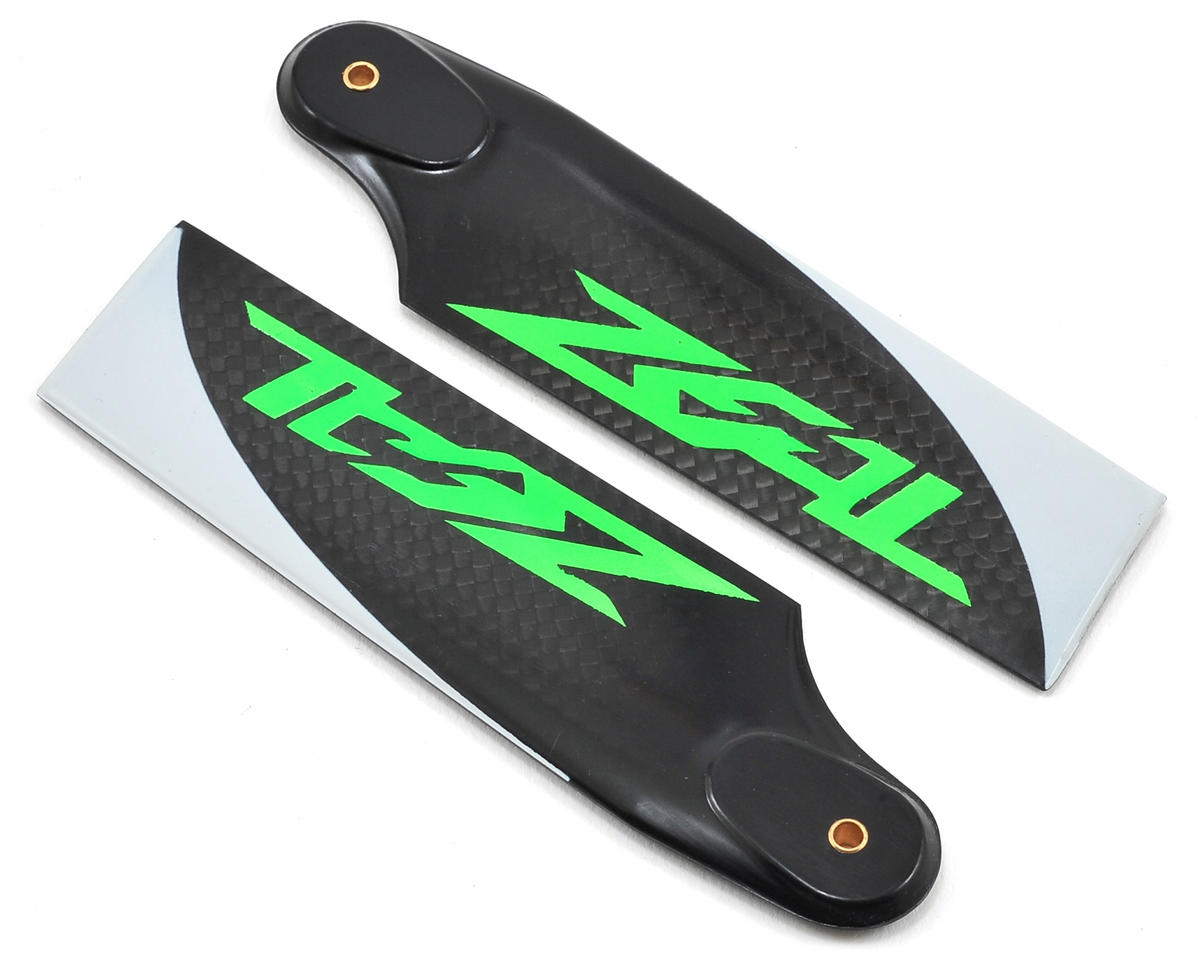 Zeal 105mm Carbon Fiber Tail Blades (Green)