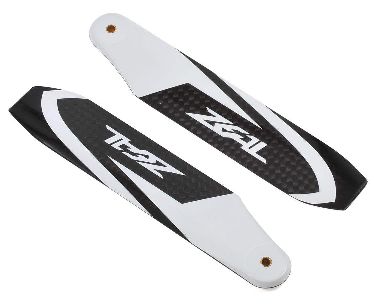 Zeal 115mm VLS Carbon Fiber Tail Blades (White)